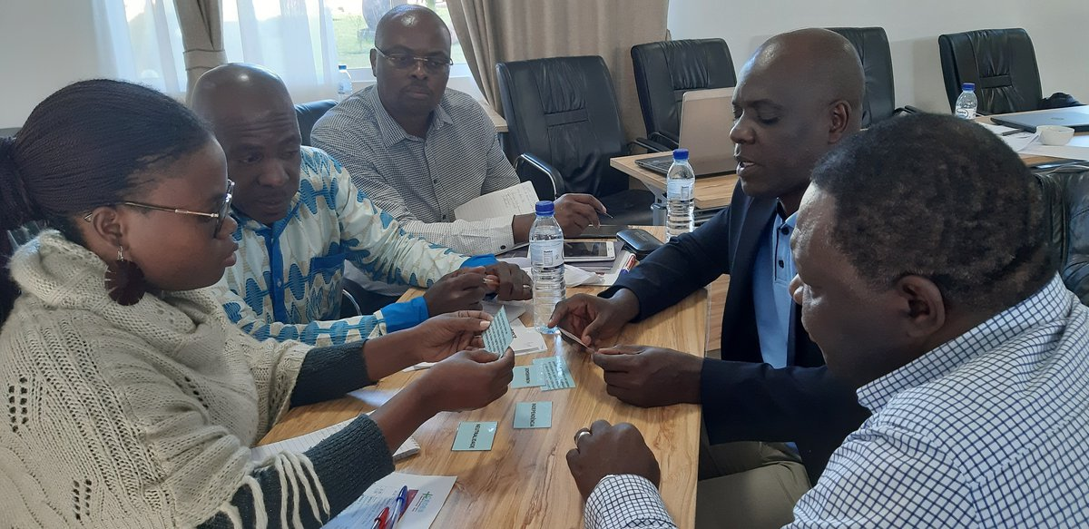 During a group work in workshop on Quality & Accountability at Chimoio, Mozambique in June 2019.