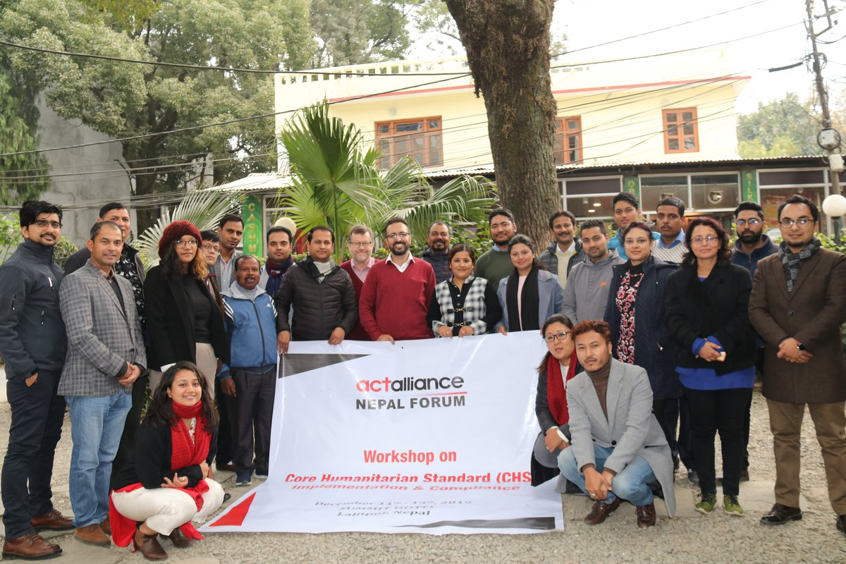 Group photo of workshop for ACT Forum Members in Nepal on CHS Implementation & Compliance. It was conducted in Dec 2019.