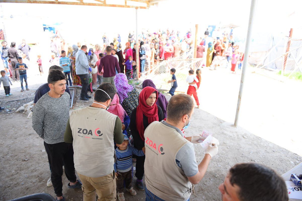 Distributions during the COVID-19 outbreak. Iraq.